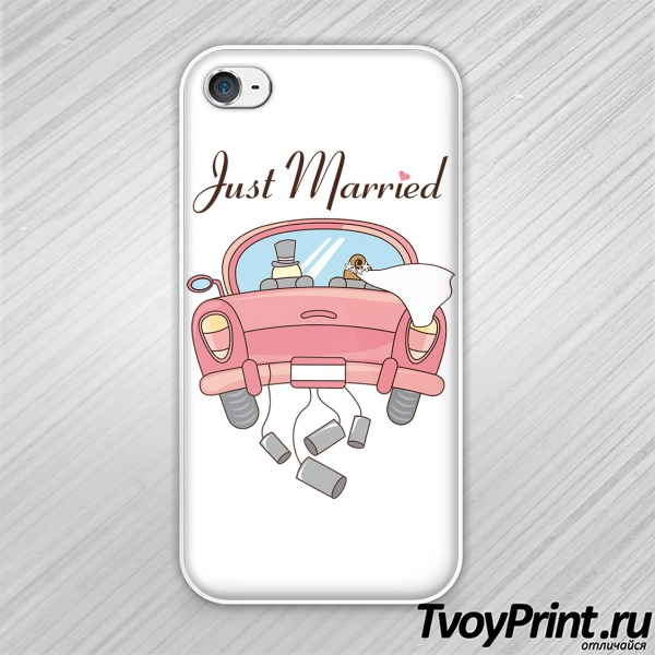 Чехол iPhone 4S JUST MARRIED