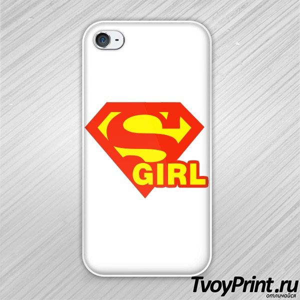 Чехол iPhone 4S SuperGirl