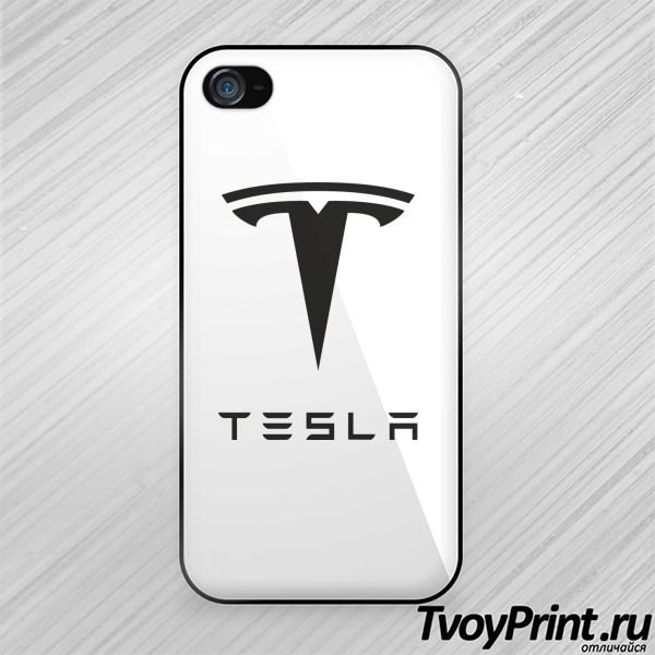 Чехол iPhone 4S tesla