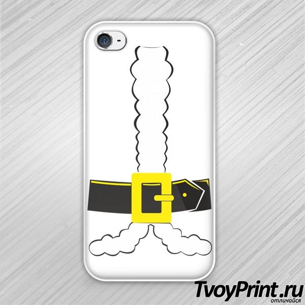 Чехол iPhone 4S Костюм Санты