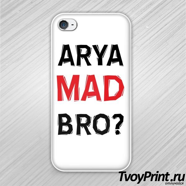 Чехол iPhone 4S Арья Безумный Братан