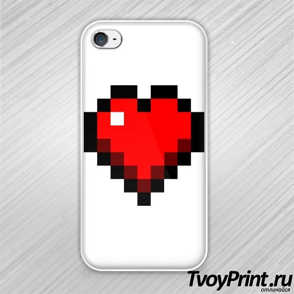 Чехол iPhone 4S Майнкрафт Сердечко Жизни