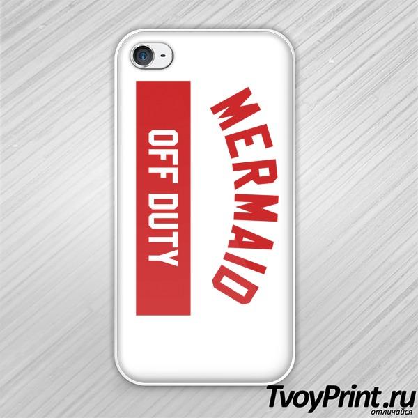 Чехол iPhone 4S Русалка не на службе