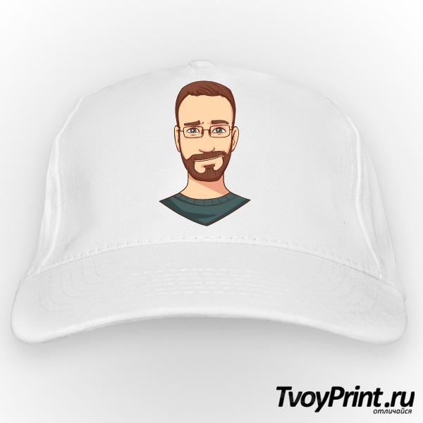 Бейсболка бородатый хипстер в очках