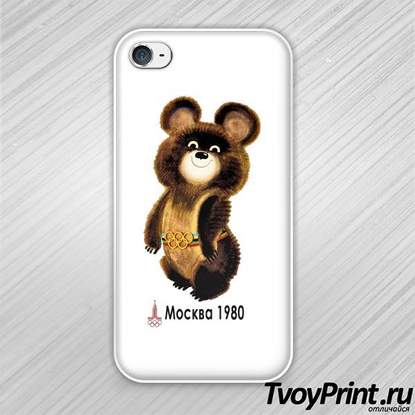 Чехол iPhone 4S Олимпийский мишка
