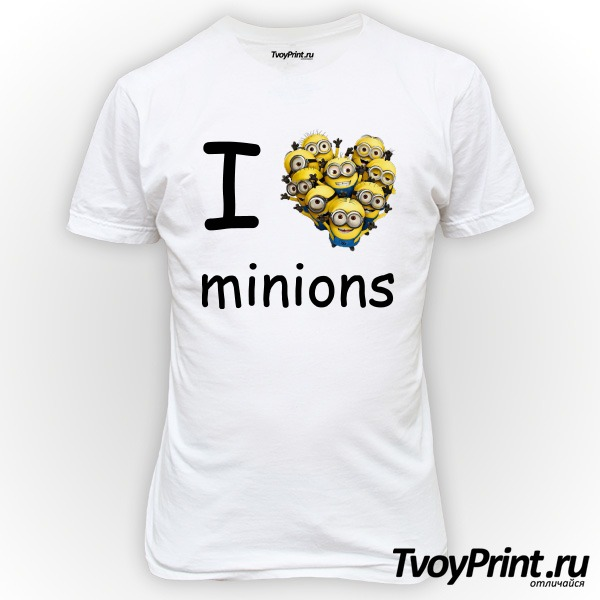 Футболка I love minion (миньон)