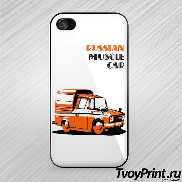 Чехол iPhone 4S Русский мускул кар (Muscle Cars)