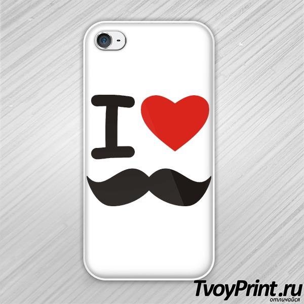 Чехол iPhone 4S I love УСЫ