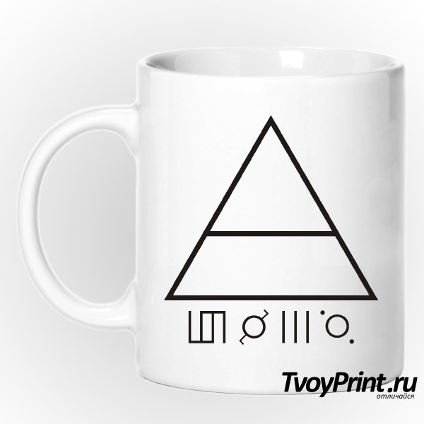 Кружка 30 seconds to mars Глифы