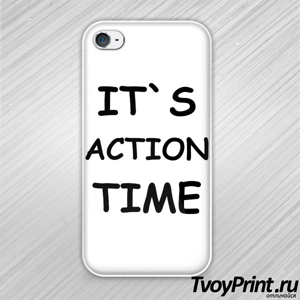Чехол iPhone 4S Action Time