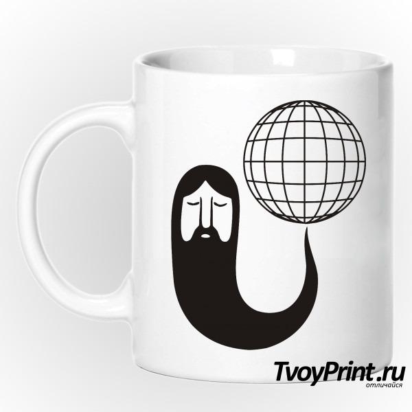 Кружка Борода крутит землю