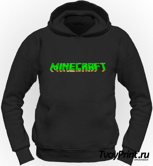 Толстовка Майнкрафт Логотип Зеленый