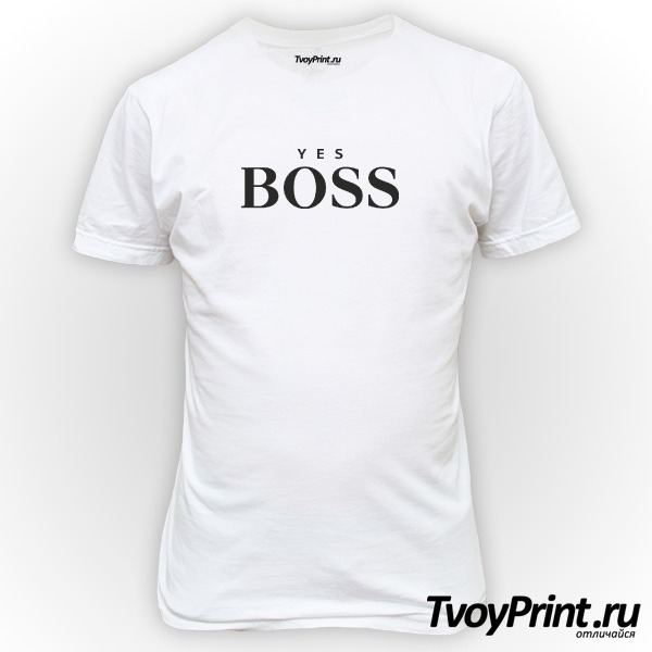 Футболка yes boss