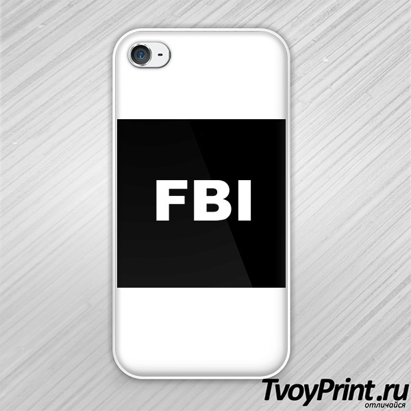 Чехол iPhone 4S FBI
