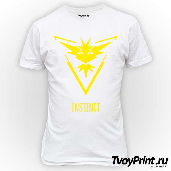 Футболка Yellow Team Instinct Pokemon Go Желтая команда