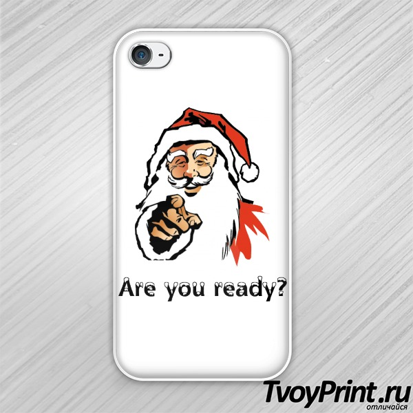 Чехол iPhone 4S новогодняя are you ready