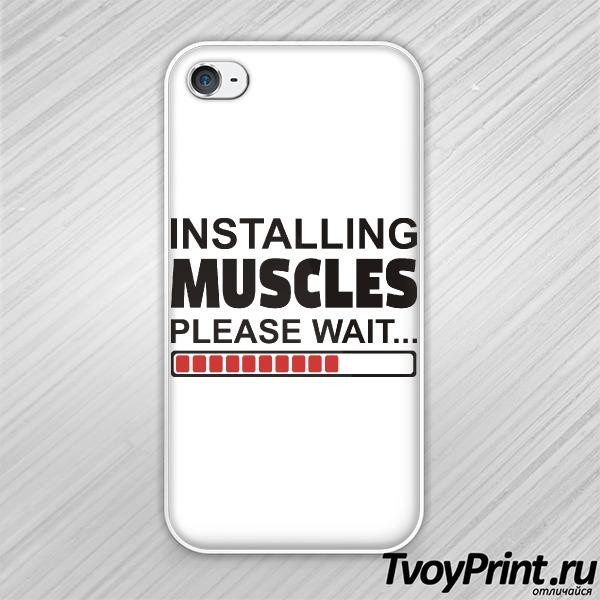 Чехол iPhone 4S Installing Muscules