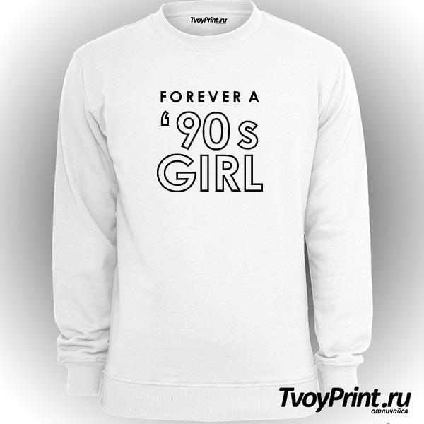 Свитшот forever a 90's girl white