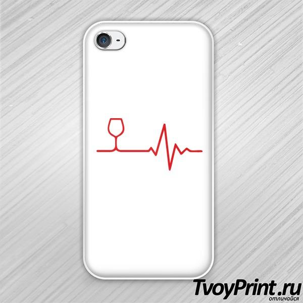 Чехол iPhone 4S Вино в сердце