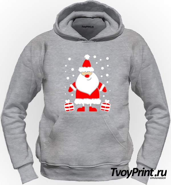 Толстовка Дед Мороз улыбается
