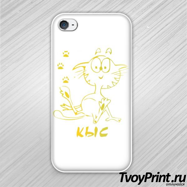 Чехол iPhone 4S Кыс