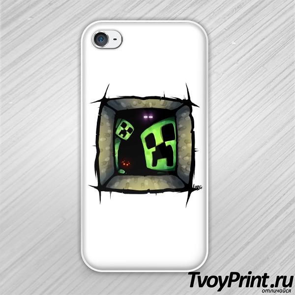 Чехол iPhone 4S Майнкрафт Внутри Тебя