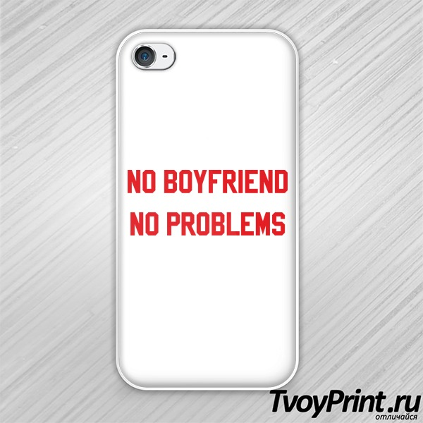 Чехол iPhone 4S no boyfriend no problem