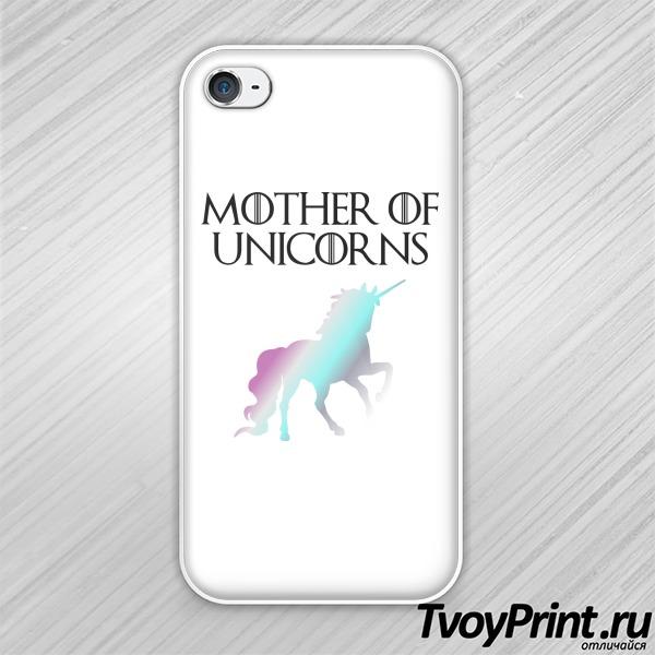 Чехол iPhone 4S мать единорогов