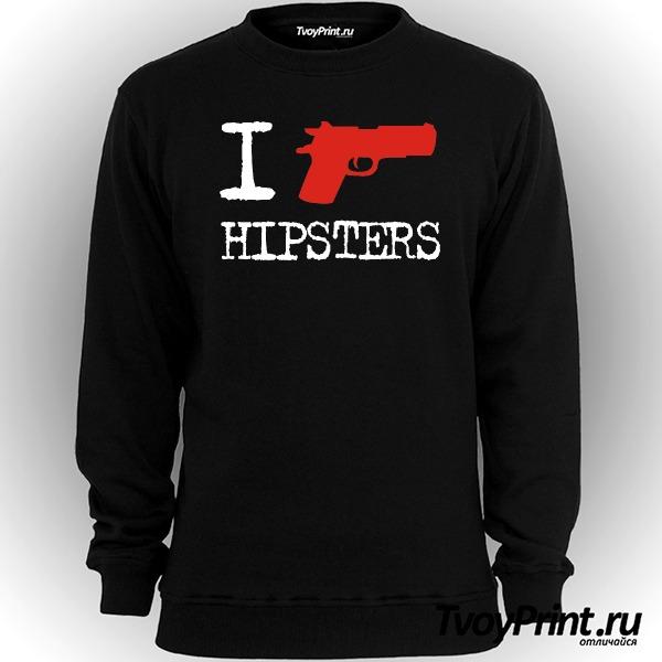 Свитшот I Shoot Hipsters