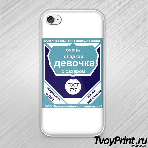 Чехол iPhone 4S Очень сладкая девочка