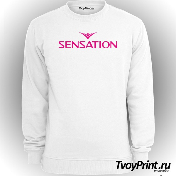 Свитшот Sensation розовый знак