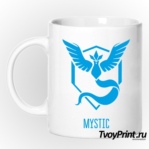Кружка Blue Team Mystic Pokemon Go Синяя команда