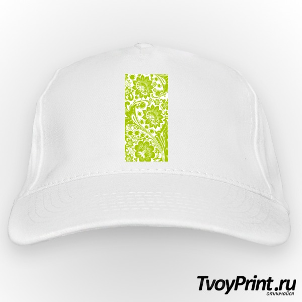 Бейсболка Хохлома white-green