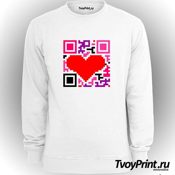 Свитшот QR-код  love