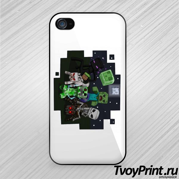 Чехол iPhone 4S Майнкрафт Выживание