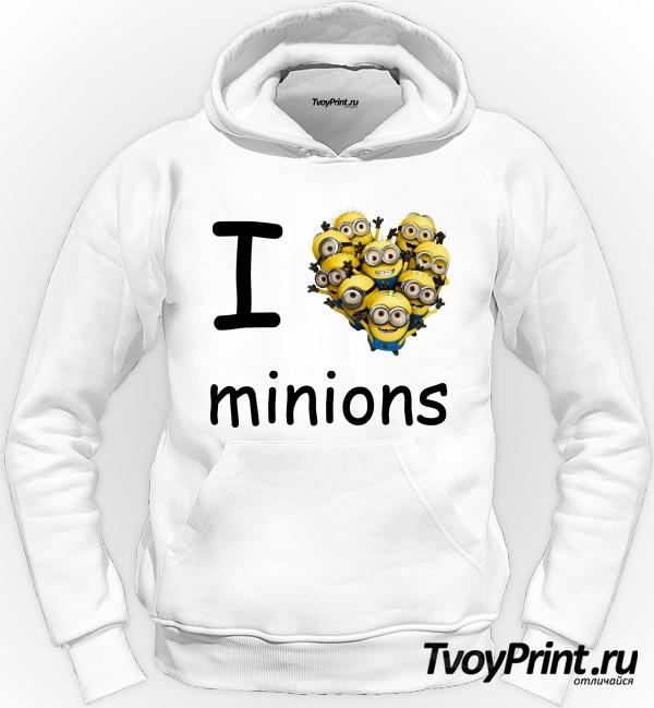 Толстовка I love minion (миньон)