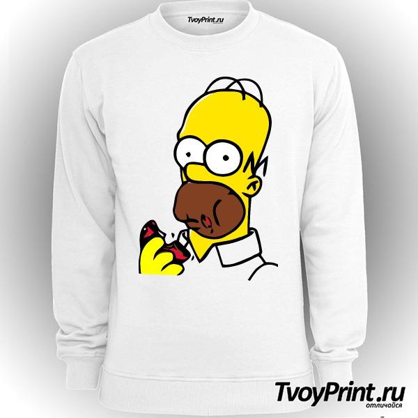 Свитшот Гомер с пончиком