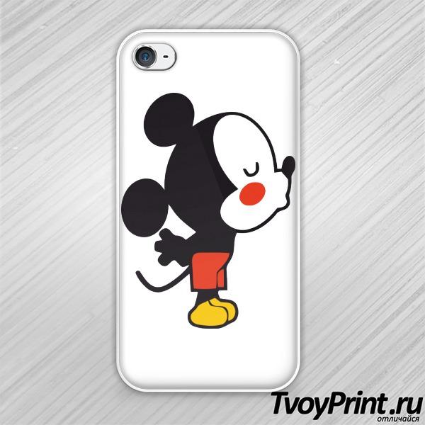 Чехол iPhone 4S Влюбленные мышата левая часть