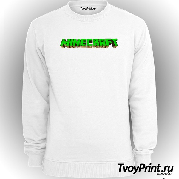 Свитшот Майнкрафт Логотип Зеленый
