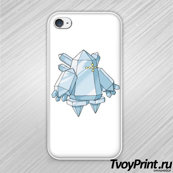 Чехол iPhone 4S Реджайс (Regice) Покемон