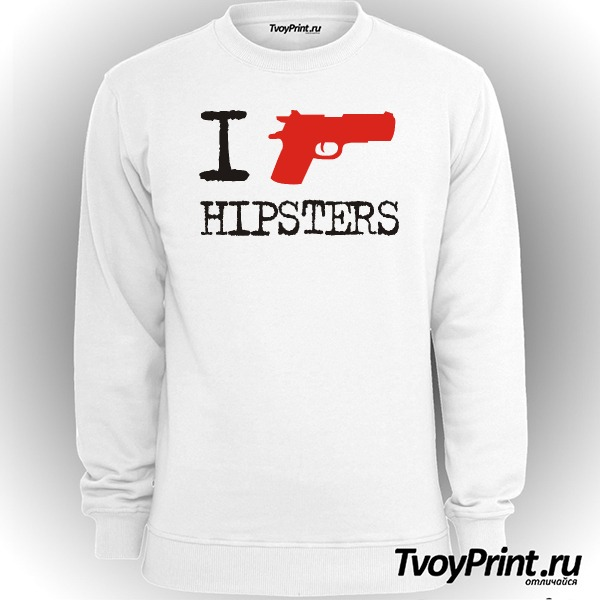 Свитшот I Shoot Hipsters