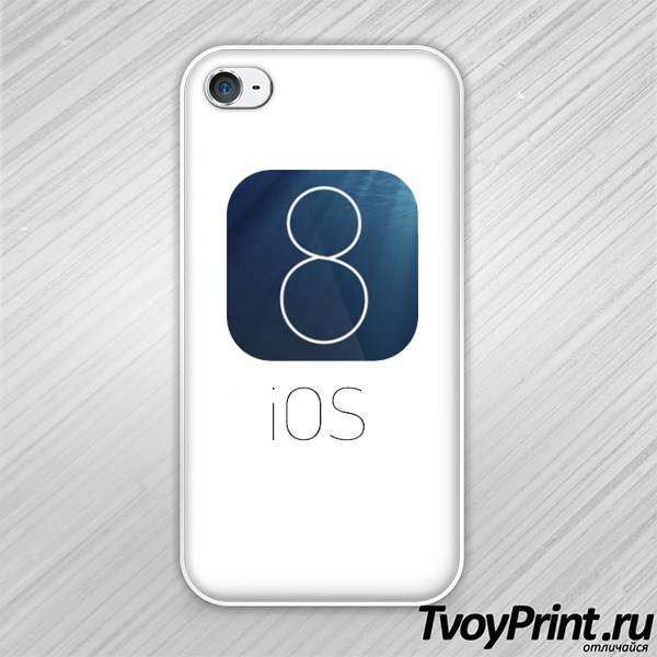 Чехол iPhone 4S IOS 8