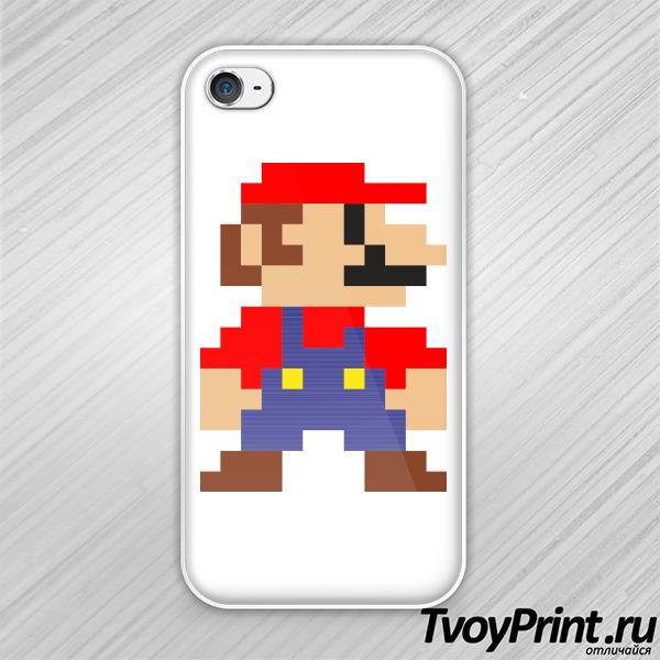 Чехол iPhone 4S Супер Марио (Super Mario)