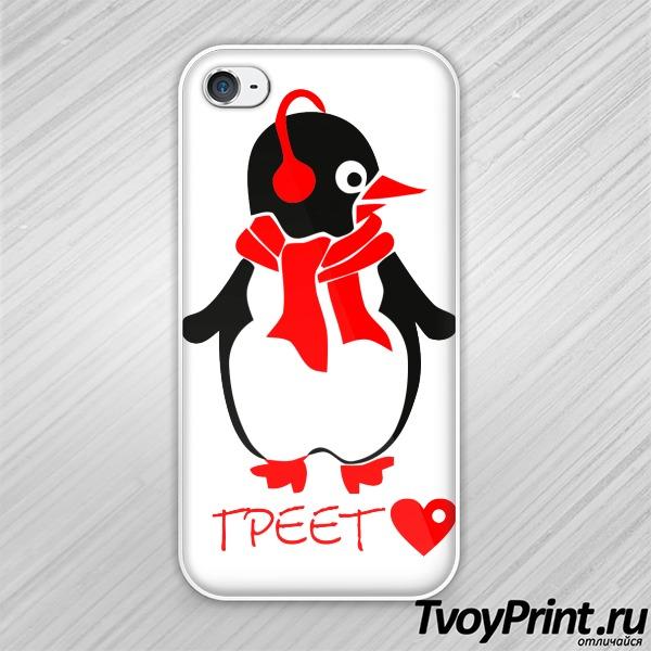 Чехол iPhone 4S Любовь греет