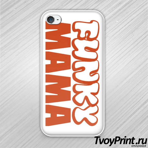 Чехол iPhone 4S Funky МАМА (жен.)