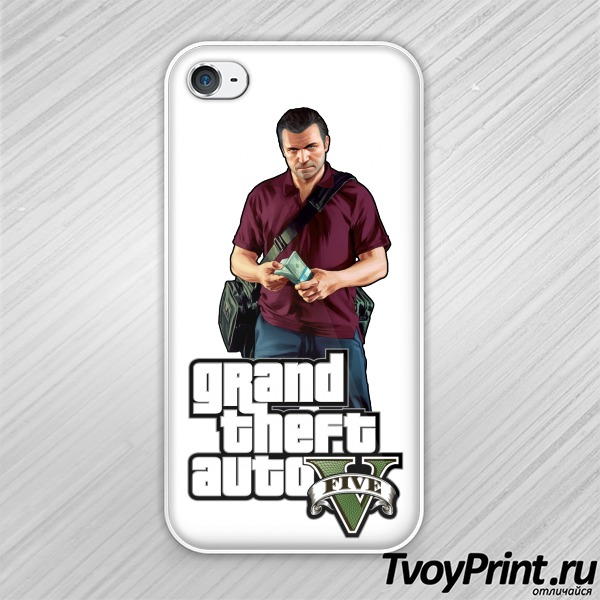 Чехол iPhone 4S GTA 5: Michael
