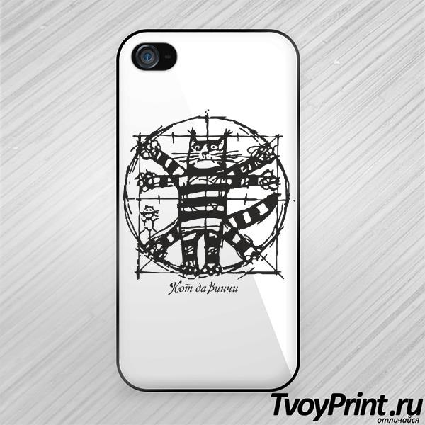 Чехол iPhone 4S Кот да Винчи