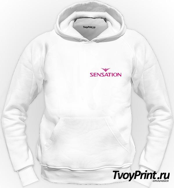 Толстовка Sensation розовый знак