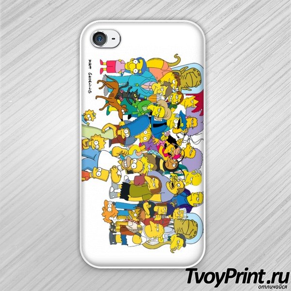 Чехол iPhone 4S Simpsons 2 Симпсоны