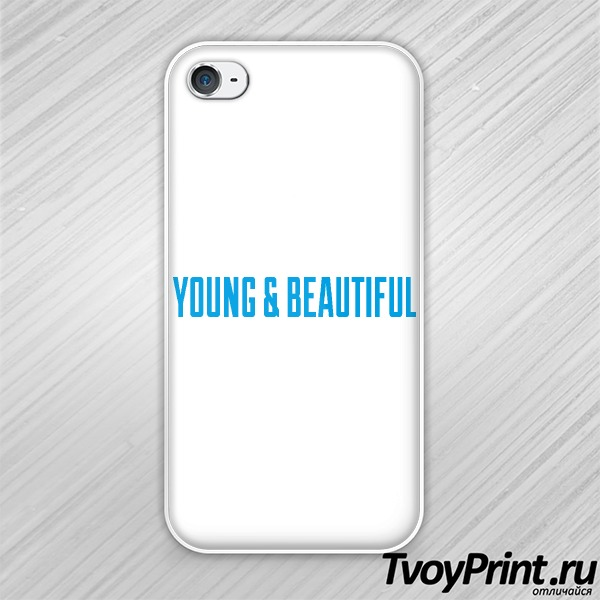 Чехол iPhone 4S YOUNG & BEAUTIFUL